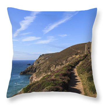 Chapel Porth Cornwall Throw Pillow