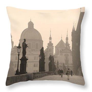 Charles Bridge Prague Czech Republic Throw Pillow
