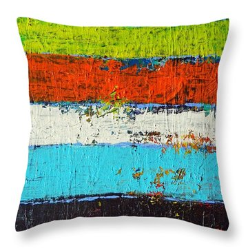 6 Colores Throw Pillow by Everette McMahan jr