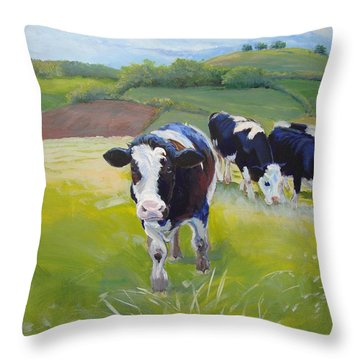 Cows Throw Pillow