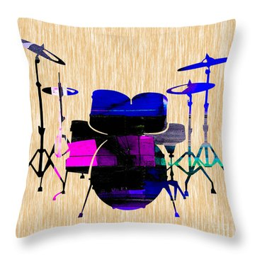 Drums Throw Pillow by Marvin Blaine