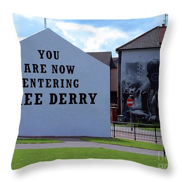 Free Derry Corner 3 Throw Pillow
