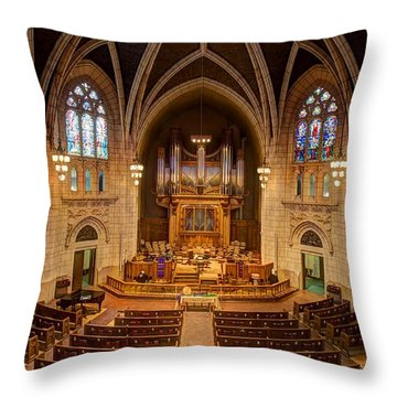 Hennepin Avenue Methodist Church Throw Pillow by Amanda Stadther