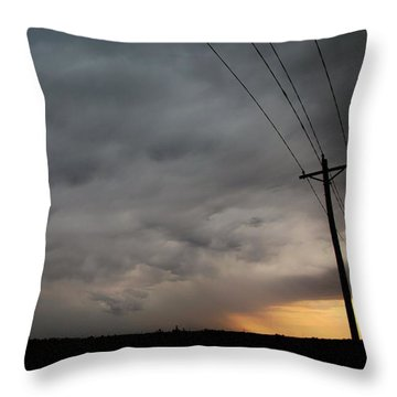 Let The Storm Season Begin Throw Pillow