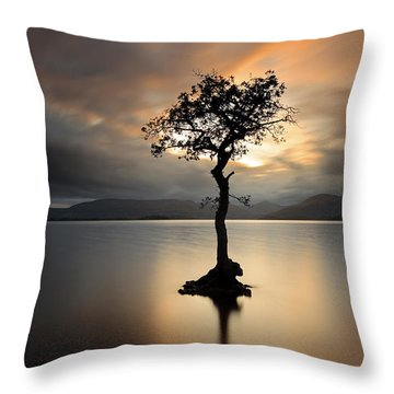 Loch Lomond Sunset Throw Pillow