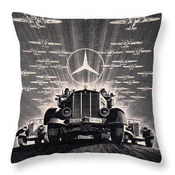 Mercedes - Benz Throw Pillow