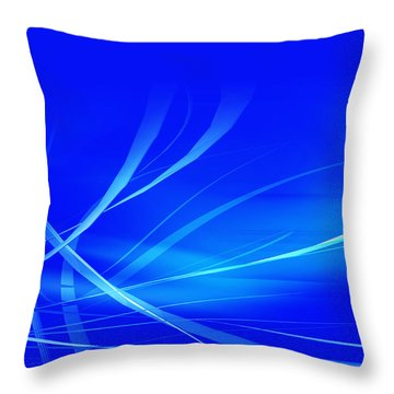 Modern Blue Abstract Throw Pillow