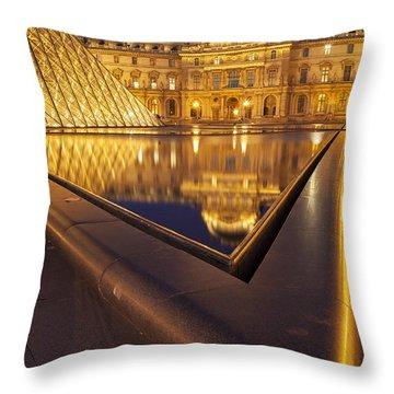 Musee Du Louvre Throw Pillow by Brian Jannsen