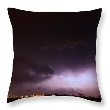 Our 1st Severe Thunderstorms In South Central Nebraska Throw Pillow
