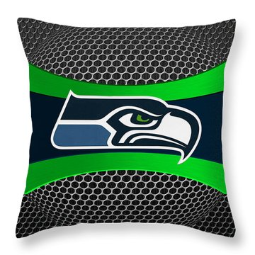 Seattle Seahawks Throw Pillow by Joe Hamilton