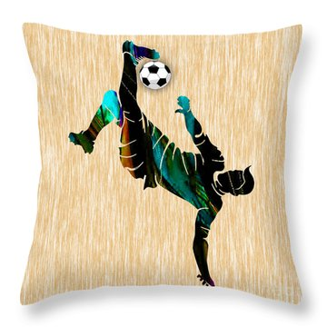 Soccer Throw Pillow by Marvin Blaine
