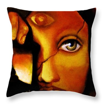 The Seeker Throw Pillow by Dalgis Edelson