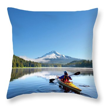 Kayak Throw Pillows