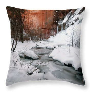 16x20 Canvas - West Fork Snow Throw Pillow