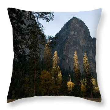 Yosemite National Park Throw Pillow by Mark Newman