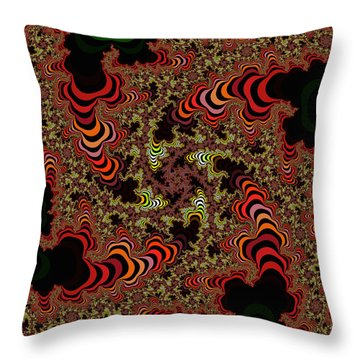 60's Flower Garden 5 Throw Pillow