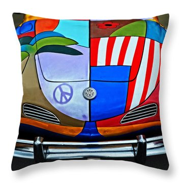 60s Wild Ride Throw Pillow by Mary Machare