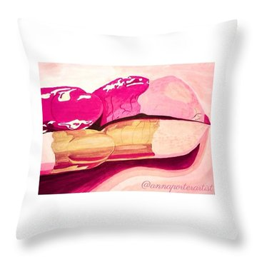 Sensuality Throw Pillow by Anna Porter