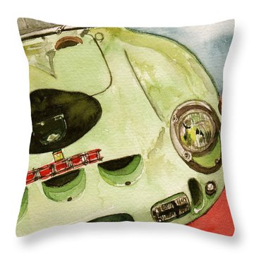 62 Ferrari 250 Gto Signed By Sir Stirling Moss Throw Pillow by Anna Ruzsan