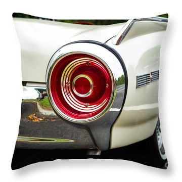 62 Thunderbird Tail Light Throw Pillow