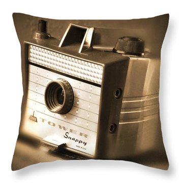 620 Camera Throw Pillow by Mike McGlothlen