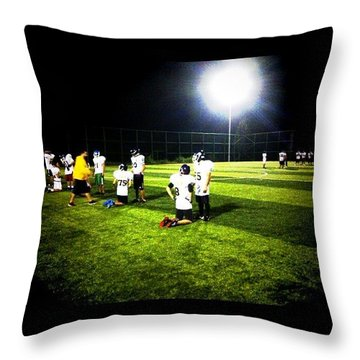 American Football Training Throw Pillow