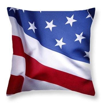 American Flag 50 Throw Pillow