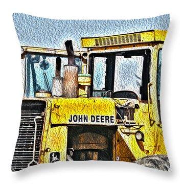 644e - Automotive Recycling Throw Pillow