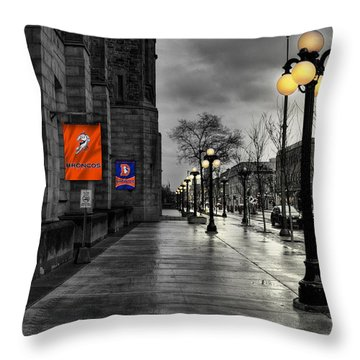 Denver Broncos Throw Pillow