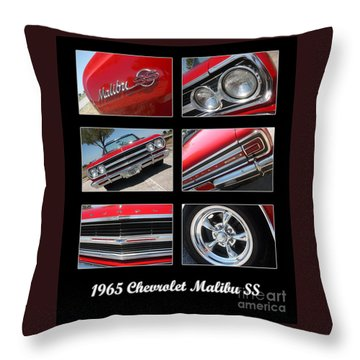 65 Malibu Ss Poster Throw Pillow by Gary Gingrich Galleries