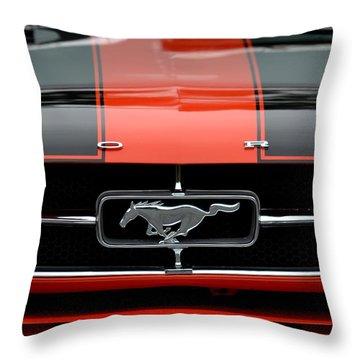 65 Mustang Throw Pillow