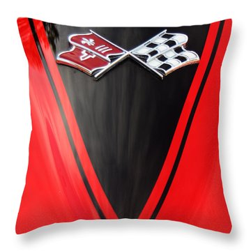 65 Sting Ray-torch Red-hood-8785 Throw Pillow by Gary Gingrich Galleries