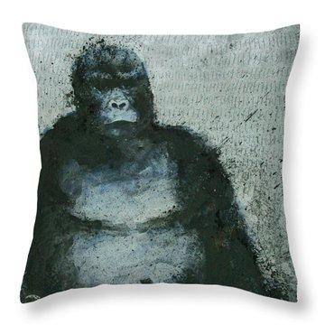 650 Mountain Gorillas, 2008 Mixed Media Throw Pillow