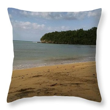 Island  Throw Pillow by Courtney Pierce