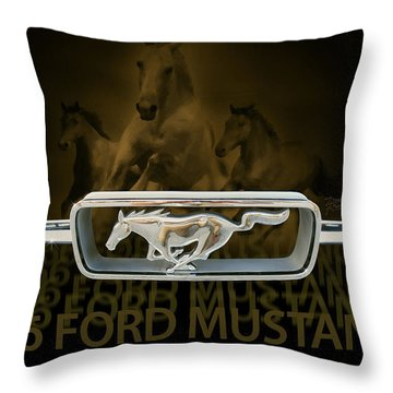 Throw Pillow featuring the digital art '66 Ford Mustang by Doug Kreuger
