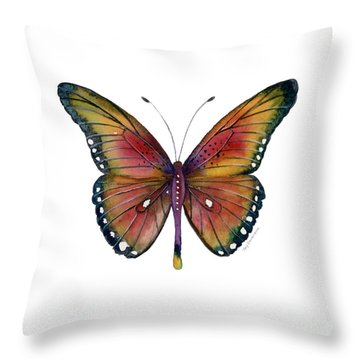66 Spotted Wing Butterfly Throw Pillow