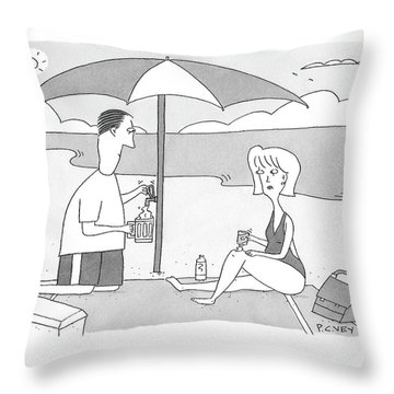 New Yorker July 28th, 2008 Throw Pillow