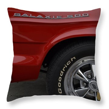 Throw Pillow featuring the photograph '67 Galaxie 500 by Nadalyn Larsen