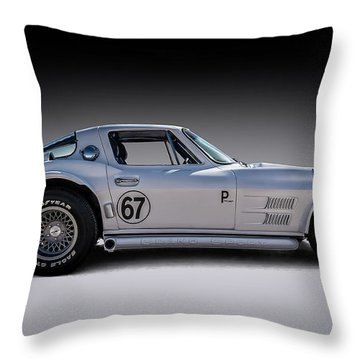 '67 Vette Throw Pillow