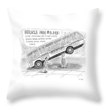 New Yorker October 8th, 2007 Throw Pillow