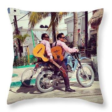 Musica De Holbox Throw Pillow