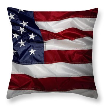American Flag 52 Throw Pillow