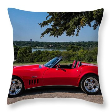 '69 Stingray Throw Pillow