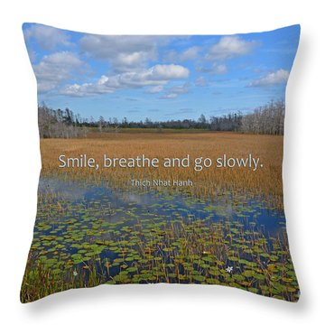 69- Thich Nhat Hanh Throw Pillow
