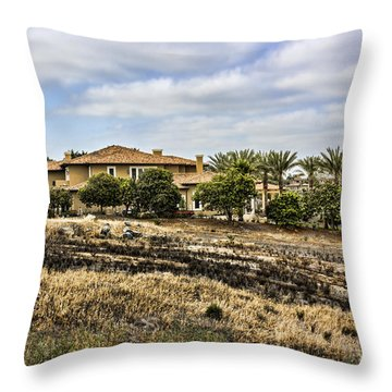 6935 Spyglass Lane Throw Pillow by Photographic Art by Russel Ray Photos