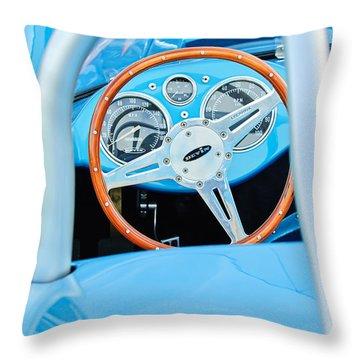 1959 Devin Ss Steering Wheel Throw Pillow by Jill Reger