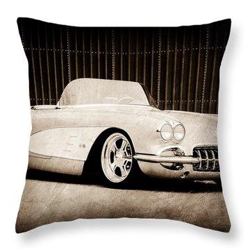 Throw Pillow featuring the photograph 1960 Chevrolet Corvette by Jill Reger