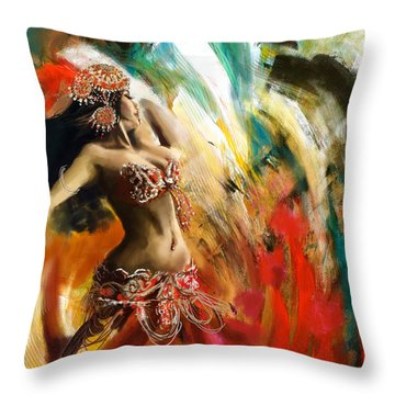 Abstract Belly Dancer 19 Throw Pillow
