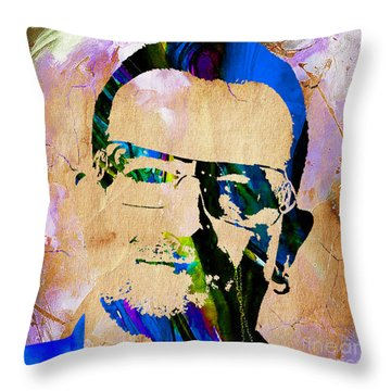 Bono U2 Throw Pillow by Marvin Blaine