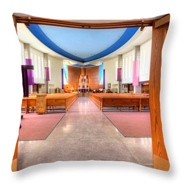 Church Of Saint Columba Throw Pillow by Amanda Stadther